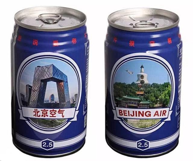Pechino: aria inquinata ora anche in lattina